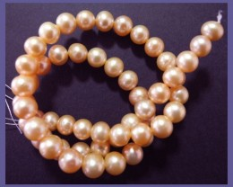 AAA+ QUALITY HIGH LUSTRE PINK ROUND 8-8.50MM FRESHWATER PEARL STRAND!!