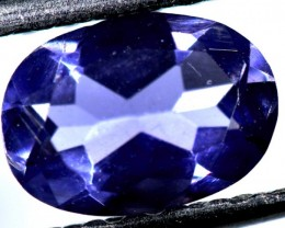 TANZANITE FACETED VIOLET BLUE  0.65  CTS RNG-84