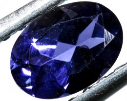 TANZANITE FACETED VIOLET BLUE  0.60  CTS RNG-87