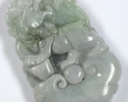 65.3 CTS JADE CARVING GOOD LUCK CHARM