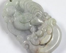 77.55  CTS JADE CARVING GOOD LUCK CHARM