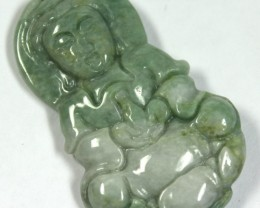 48.05 CTS JADE CARVING GOOD LUCK CHARM