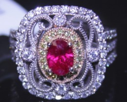 Burmese Ruby Ring 1.12ct