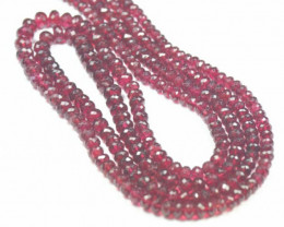 "SALE 4"" 4mm to 6mm Red Spinel faceted beads roundelles AAA quality SPR"