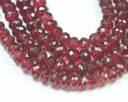 "SALE 18"" 4mm to 6mm Red Spinel faceted beads roundelles AAA quality SP"