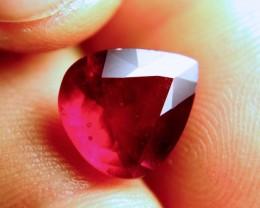 6.76 Carat Pear Cut VS Pigeon Blood Ruby - Superb