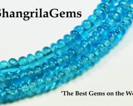 "2mm to 2.5mm 6"" Neon Paraiba Apatite beads AAA smooth roundelles Carr"