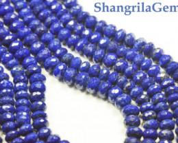 "5MM 18"" line Lapis Lazuli blue faceted beads roundelles AA Grade lapb0"