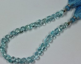 61 CTS - 1 STRAND 5 X 5 MM TOPAZ BEADS 7 INCHES