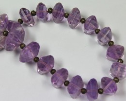 103 CTS 1 STRAND AMETHYST 10 X 10 MM - 7 INCHES