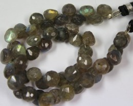 133 CTS - 1 STRAND LABRADORITE 8 X 8 MM - 10 INCHES