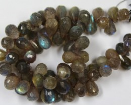 204 CTS 1 STRAND 8 X 6 MM LABRADORITE - 10 INCHES
