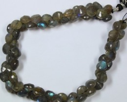 176 CTS - 1 STRAND LABRADORITE 8 X 8 MM - 10 INCHES