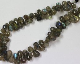 147 CTS - 1 STRAND LABRADORITE 6 X 5 MM - 9 INCHES