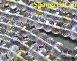 "6mm to 9mm 7.5"" Ametrine beads faceted roundelles AAA Grade Ametri007"
