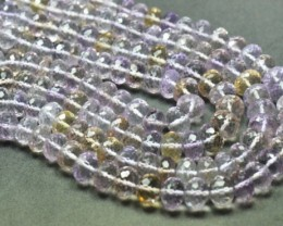 "6mm to 9mm 16"" Ametrine beads faceted roundelles AAA Grade Ametri007"