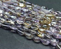 Ametrine pebble nugget beads purple gold  AAA