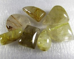 104cts Natural Brazil Golden Rutile Quartz Lot Z2243