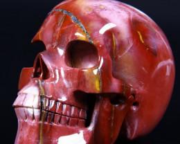 5.2 Inch Superb Mookaite Jasper Skull Carving