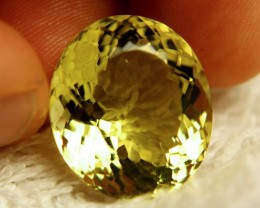 33.47 Carat IF/VVS1 Natural Brazilian Lemon Quartz