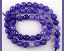 HIGH QUALITY 8.00MM BRIGHT PURPLE FACETED ROUND BEADS!!