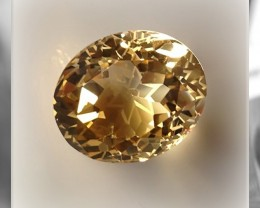 15.00CT RIVETING SPECIAL CUT STAR ENGRAVED CITRINE - STUNNING