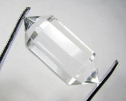 38cts Quartz Crystal Double Pointed Faceted Z 2252
