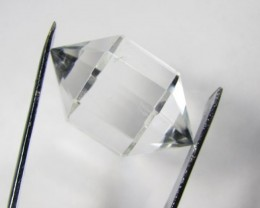 41cts Quartz Crystal Double Pointed Faceted Z 2257
