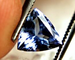 0.93 Carat Trillion Cut VVS1 Blue Tanzanite - Lovely Gemstone