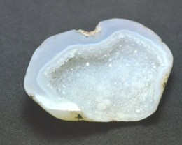 45mm White Druzy designer cabochon Pure white 45 by 34 by 10mm