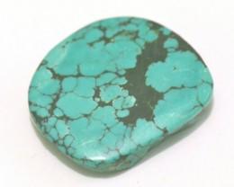 NOT FOR SALE 34mm TIBETAN TURQUOISE gemstone cabochon. Genuine Tibetan Turq