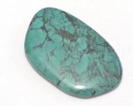 53mm TIBETAN TURQUOISE gemstone cabochon. Genuine Tibetan Turquoise 95ct