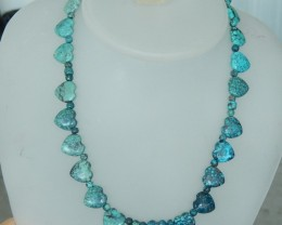Handmade Necklace Beads ,Turquoise Heart Shaper Necklace Bead  - Turquoise