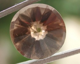 5.65ct WONDERFUL BRAZILIAN FACETED SMOKEY QUARTZ GEM CUT IN THE U.S (MJ73)