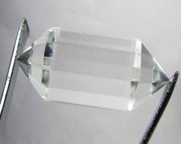 36cts Quartz Crystal Double Pointed Faceted Z2269