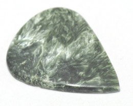 46mm SERAPHiNITE heart or drop or pear cut green gemstone cabochon