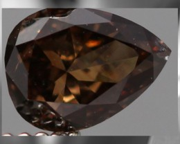 CERTIFIED Exotic Pinkish Chocolate Diamond - .293 cts - Argyle mine, Austra