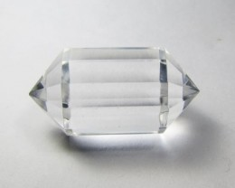 34cts Quartz Crystal Double Pointed Faceted Z2272