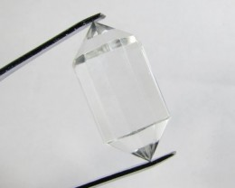 29cts Quartz Crystal Double Pointed Faceted Z2275