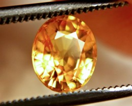 1.39 Carat VS Golden Orange Sapphire - Superb