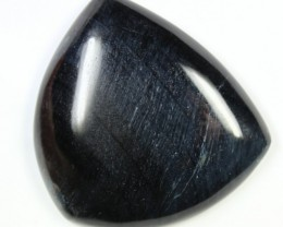 123.3 CTS TIGER EYE STONE DYED TO LOOK LIKE OBSIDIAN