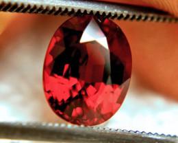 3.05 Carat VVS1 Orangy Red African Spessartite Garnet