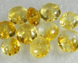Natural Brazil Citrine Faceted Beads Z 2253