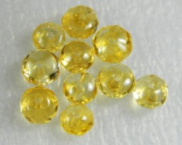 Natural Brazil Citrine Faceted Beads Z 2256
