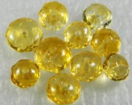 Natural Brazil Citrine Faceted Beads Z 2257