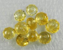 Natural Brazil Citrine Faceted Beads Z 2258
