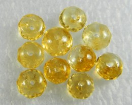 Natural Brazil Citrine Faceted Beads Z 2259
