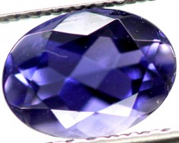 IOLITE FACETED VIOLET BLUE  0.65 CTS RNG-94