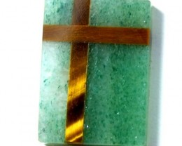 AUSTRALIAN CHRYSOPRASE WITH TIGER EYE 9.45 CTS    LG-162