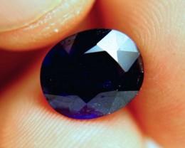 5.88 Carat Vibrant Midnight Blue Sapphire - Gorgeous